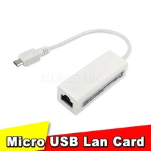 Micro USB 1.0 Male To RJ-45 Female 5-Pin 10/100Mbps Ethernet LAN Network Adapter Card For Android PC Laptop Tablets For Windows