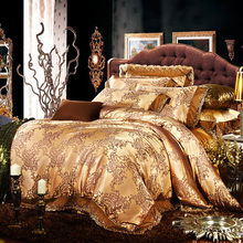 1.8M Bed 100% modal natural green satin jacquard bedding set four sets of special offer