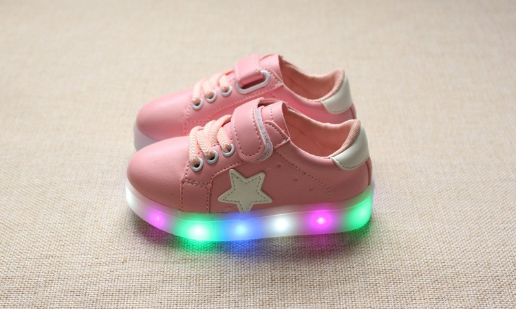New 17 Cool LED lighted fashion new brand breathable children shoes cute little baby girls boys shoes kids sneakers 15
