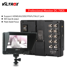 "Buy Viltrox DC-70EX Pro 7"" HDMI SDI AV YPbPr TALLY Input Output Video HD LCD Camera Video Monitor Display Field Canon Nikon Sony for $145.00 in AliExpress store"