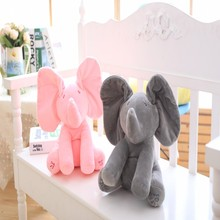 Peek-a-boo Elephant Stuffed Animals & Plush Elephant Toy, Plush Toy & Musical Baby Doll Animated Flappy Baby Gift Christmas Gift