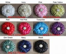 "Free Shipping 2.5"" 40 Tulle Fabric Hair Bow Flowers for Girls Headbands,DIY Flowers for Bby Hair Accessories"