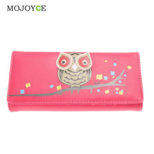 New Arrival Fashion Owl Wallet PU Leather Purse Holder Long Cartoon Purses Lovely Women Wallets Free Shipping 1STL