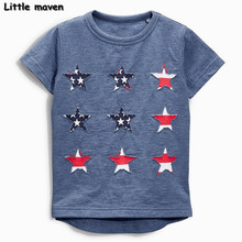 Buy Little maven baby boy clothes 2017 summer boy short sleeve cotton tee tops cloth star t shirt 50684 for $7.70 in AliExpress store