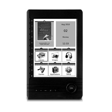 6 inch Portable ebook reader digital player with e-ink screen Support SD card Extended(China)