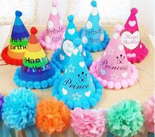 Baby Boys Girls Kids Happy Birthday Party Cute Hats Caps Fancy Balls Paper Party Kids Baby Hats