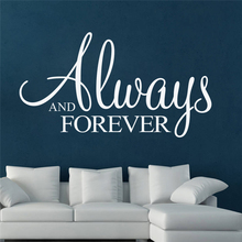 always and forever quotes wall stickers for living room bedroom home decoration removable diy decals vinyl art