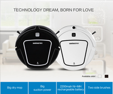 Dry Mopping Robot Vacuum Cleaner D720 with Big Suction Power,2 side brush,Time Schedule Vacuum  Auto charge Robotic Aspirador