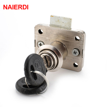 Brand NAIERDI Hardware 101 Iron Drawer Lock Furniture Desk Cabinet Locker Lock 16mm Lock Core 22 Thickness With Two Keys