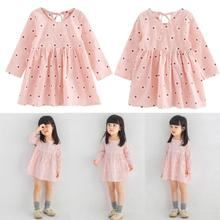 Buy Baby Girl Princess Dress Clothes Kids Girls Long Sleeve Dress Flower Print Spring Summer Dress Soft Cotton Children Clothing for $3.53 in AliExpress store