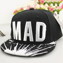 2017 Trend Hat Snapback Cap Children Embroidery MAD or S Letter Baseball Caps Kid Boys And Girls Flat Hip Hop Cap Brand New