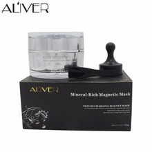 ALIVER Mineral-Rich Magnetic Face Mask Pore Cleansing Removes Skin Impurities Face Skin Care(China)