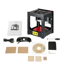 1500mW Mini cnc router Laser Engraver Carver DIY Print Engraving Carving Machine Automatic Off-line Operation W/ glass(China)