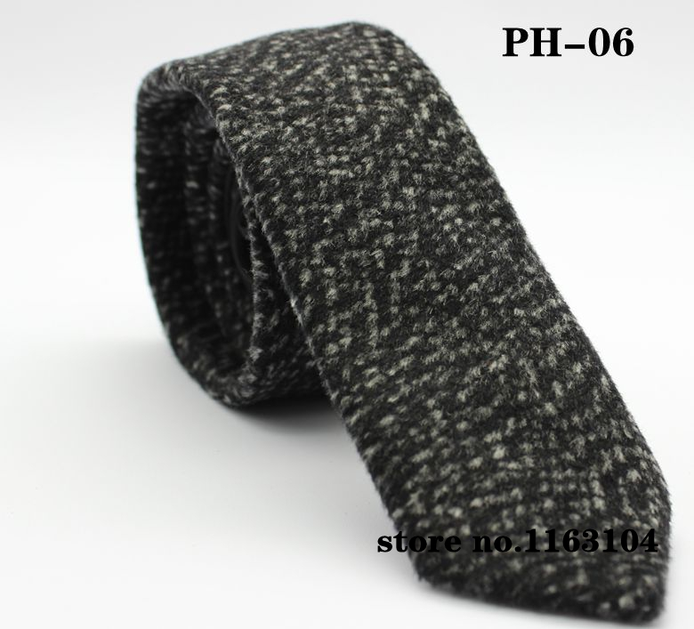 Image SPECIAL DISCOUNT  men wool tie high quaity grey color 5cm skinny neck tie bowtie ph06