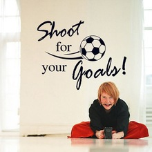 Fashion Removable Shoot For Your Goals Soccer Wall Stickers Home Decals Home Decoration Sticker DIY