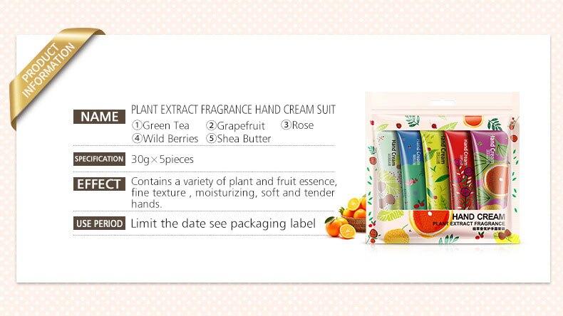 Whitening Rejuvenation Hand Cream Moisturizing Nourishing Repair Anti Aging Anti Chapping Hand Care Beauty 5pcs Set 4