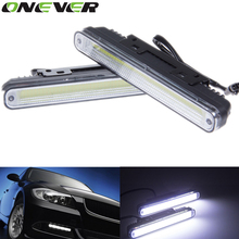 Universal Hot Ultra Bright 12W COB Daytime Running light Waterproof Day time Lights 6500K LED Car DRL Driving lamp 2pcs(China)