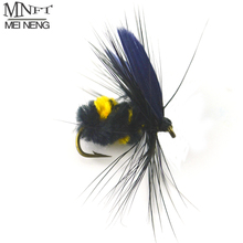 MNFT 10PCS/Lot 10# Bumblebee Fly Fishing Flies Trout Bass Bumble Bee Fresh Dry Fly Hooks Baits Tool Fishing Trout Flies Lures