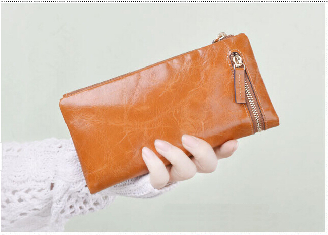 Free Shipping Kavya Designer Zipper Women Genuine Leather Wallets Coin Purse Clutch Ladies Purse 5 Colors promotion Hot selling<br><br>Aliexpress