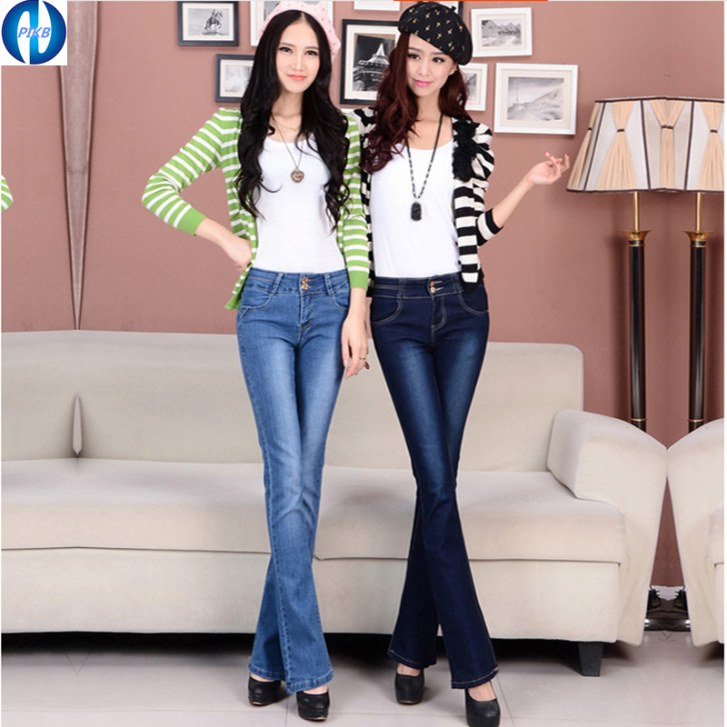 PIKB 2017 updated quality hot style  women slim waistt  jeans  slim straight  loose elastic long trousers plus size jeansОдежда и ак�е��уары<br><br><br>Aliexpress