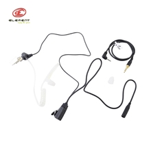 CS Field Wargame Army Trainning Earphone Portable Z-Tactical zFBI Style Acoustic Headset for TOCOM Version Pins Z129 PTT Cable