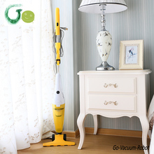 Ultra Quiet 2in1 stick vacuum cleaner big capicity dust cup,strong suction,flexible ground brush,white&yellow handheld cleaner(China)