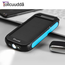 Tollcuudda LHSJ03 12000MAH Externl Power Bank Solar Battery Charger Portable Lightweight Smart Phones Suitable For Iphone