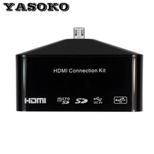Multi-functional HDMI Connection Kit Adapter HDTV Adapter OTG Card Reader for Samsung Galaxy S4 i9500,S3 i9300,Note2/3 7100