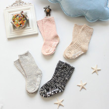 Baby Knit Socks Cotton Winter Warm Cozy Socks Soft Kids Thick Socks Boys Girls Footwear Cute Baby Sox Loose Short Brand 0-4Y(China)