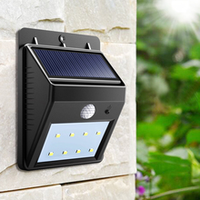 Novelty Solar Lights Wireless Waterproof Outdoor Security Light for Driveway Garden Path Yard PIR Motion Sensor Auto Activated