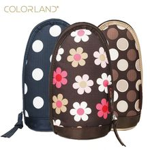 COLORLAND Mummy Thermal Feeding Milk Bottle Bag Baby Thermos Bottle Insulation Handbags Carry Cup Travel Zipper Storage