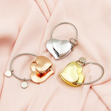 Charm Double Heart Shaped Lovers Keychain Trinket Lovely Key Holder Innovative Items Bag Pendant Novelty Gift for Girl J100(China)