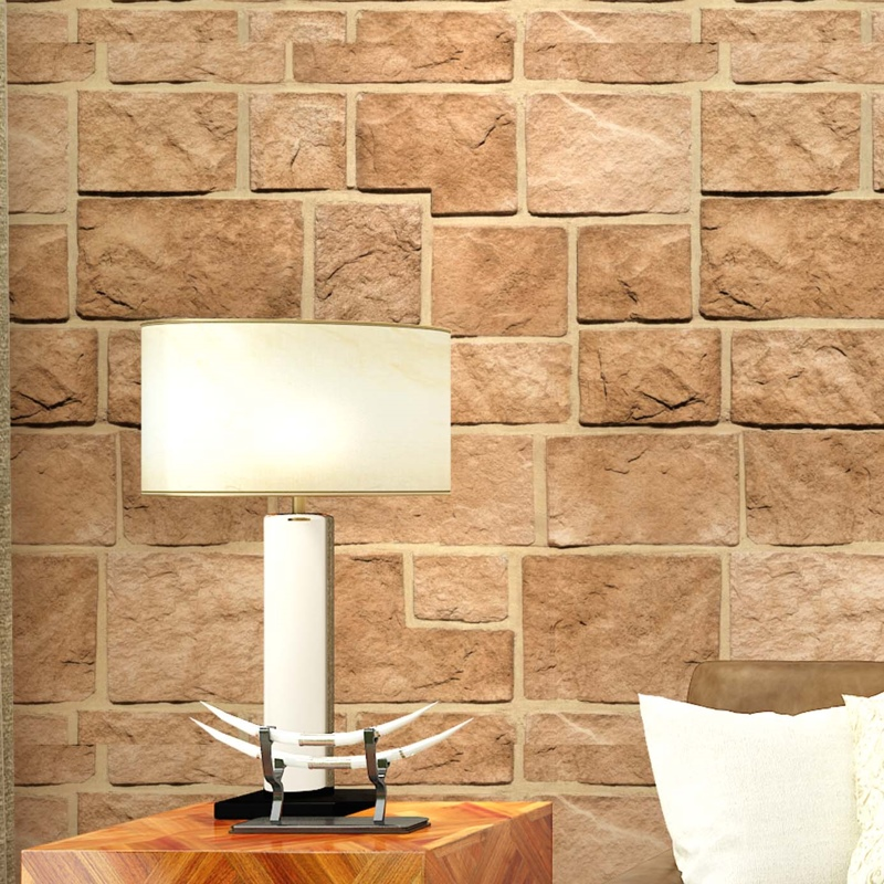 3D Stone Wall Decor Wall Paper wallcovering<br>