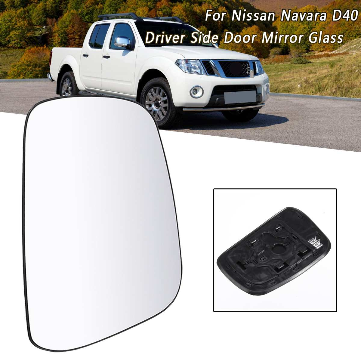 New Replacement Mirror Glass with FULL SIZE ADHESIVE for Volvo V70 XC70 XC90 Passenger Side View Right RH