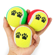 No Elasticity small dog Tennis rubber ball play toys chihuahua pet cat dog puppy teeth cleaning chew toy