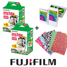 Fujifilm Instax Mini White Film 40PCS Instant Photo Paper + Free Gift 20pcs Stickers & 1 Wall Album For Fuji Mini 8 7s 25 50s 90