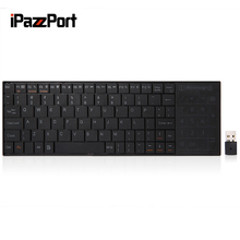 IPAZZPORT 25 Wireless Keyboard with RF Numeric Keypad Built-in Touchpad with USB Receiver Support Windows/ iOS/ Android / Linux