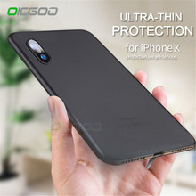 Oicgoo 0.3mm Ultra Thin Full Cover Case For iPhone X Back Cases Slim Matte Transparent Protective Shell For iphone x Phone Case(China)