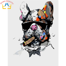 DIY oil painting paint by number canvas picture home decoration cool dog drawing coloring paint craft painting by numbers 6244(China)