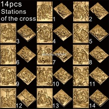 14pcs Christ the path of sorrow 3D STL model for carved figure cnc machine Crucifixion model for cnc Router Engraver ArtCam