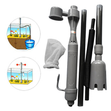 New Aquarium Auto Electric Battery Syphon Siphon Fish Tank Vacuum Gravel Water Filter Cleaner Washer
