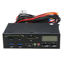 "Professional Card Reader 5.25"" USB 3.0 e-SATA All-in-1 PC Media Dashboard Multi-function Front Panel I/O Ports(China)"