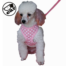 High Quality 4 colors Dog Harness Canvas Dog Puppy Vest Type Traction Rope Pet Leash Walking Tool XS-XL 5 sizes