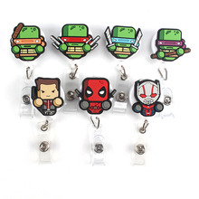 1Pcs Foreign trade Mini Ninja turtles Retractable Badge Reel Student Nurse Exihibiton ID Name Card Badge Holder Office Supplies(China)