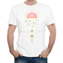 New Arrivals 2016 Men's Fashion Lotus Printed T Shirt Cool Summer Tops High Quality Casual Tee