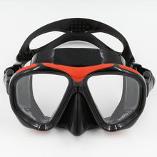 2017 Brand for Scuba Diving Free Diving Adults Snorkeling Mask with Flexible Silicone Tempered Glass Lens MK-200(China)
