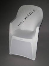 white polyester spandex lycra arm chair cover  for plastic arm chair