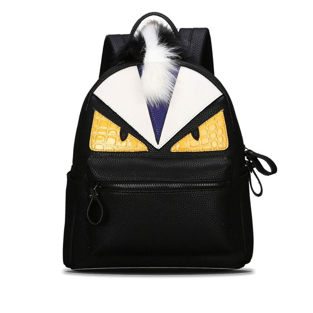 Designer Women and Mens Backpacks famous monster leather backpack school backpack mochila escolar feminina sac a dos 2017 50ZC<br><br>Aliexpress