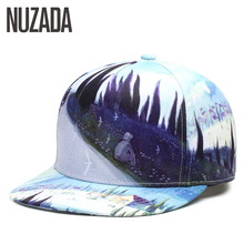 Brand NUZADA Abstract Art Men Women Baseball Cap 3D Printing Caps Spring Summer Hats Bone Quality Cotton Adjustable Snapback(China)