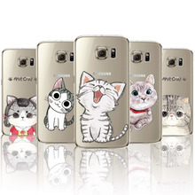 2016 Cute Mobile Phone Cover For Samsung S6 S6Edge S6 Edge Plus S7 S7Edge Lovely Cat Animals Painted Back Case New Arrival